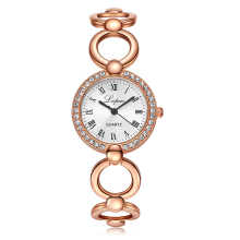 Lvpai Brand Gold Plated Bracelet Watches Women Luxury Crystal Dress Fashion Wristwatch Ladies Dress Business Quartz Watch XR1677