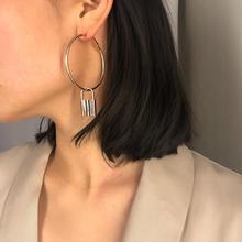 Vintage Geometric Alloy Lovers Lock Hoop Earrings Women Jewelry 2019 New Simple Big Round Accessories Gift