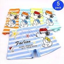 5pcs/lot Solid Color Boy Panties Cotton Children Breathable Underwears Boxer For Boys Kids Shorts Pants 2019 New