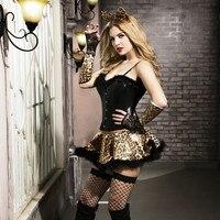 Adult Catwoman Costume Fancy Corset Bustier Lingerie Erotic Leopard Catwoman Costume Women Sexy Faux Leather CatSuit 9737