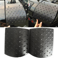 2PCS Black Car Sticker Side Cowl Cover For Jeep Wrangler JK 2007 2015 ABS Body Armor