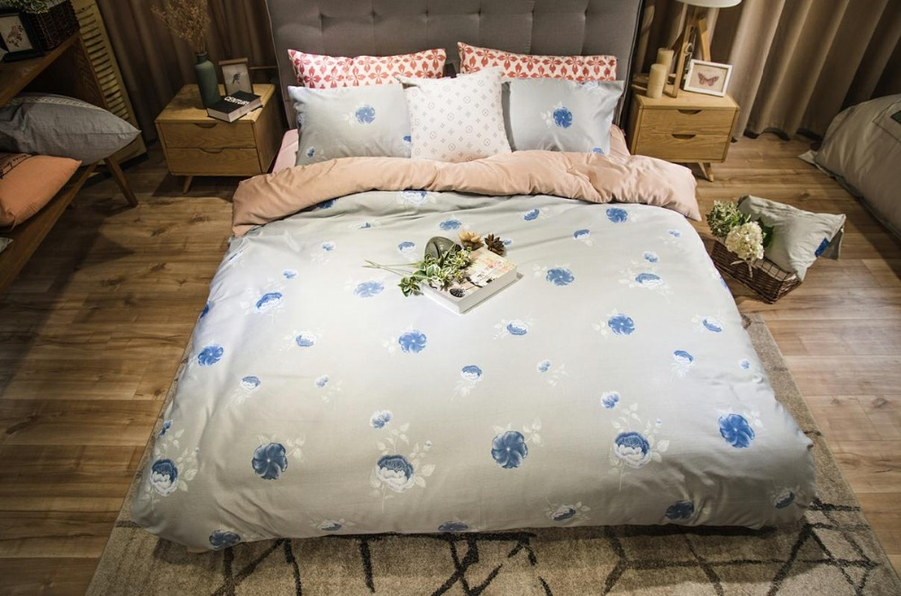 Noble Bedding Set Luxury Modal Bed Set Polka Dot Pattern Queen Size Blue Duvet Cover Set Bed Sheet 3 stylesNoble Bedding Set Luxury Modal Bed Set Polka Dot Pattern Queen Size Blue Duvet Cover Set Bed Sheet 3 styles