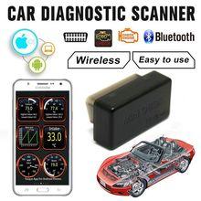 車の診断スキャナ OBD2 obdii ワイヤレス ELM327 車コードリーダースキャン Bluetooth 4.0 エンジン診断 Ios アンドロイド