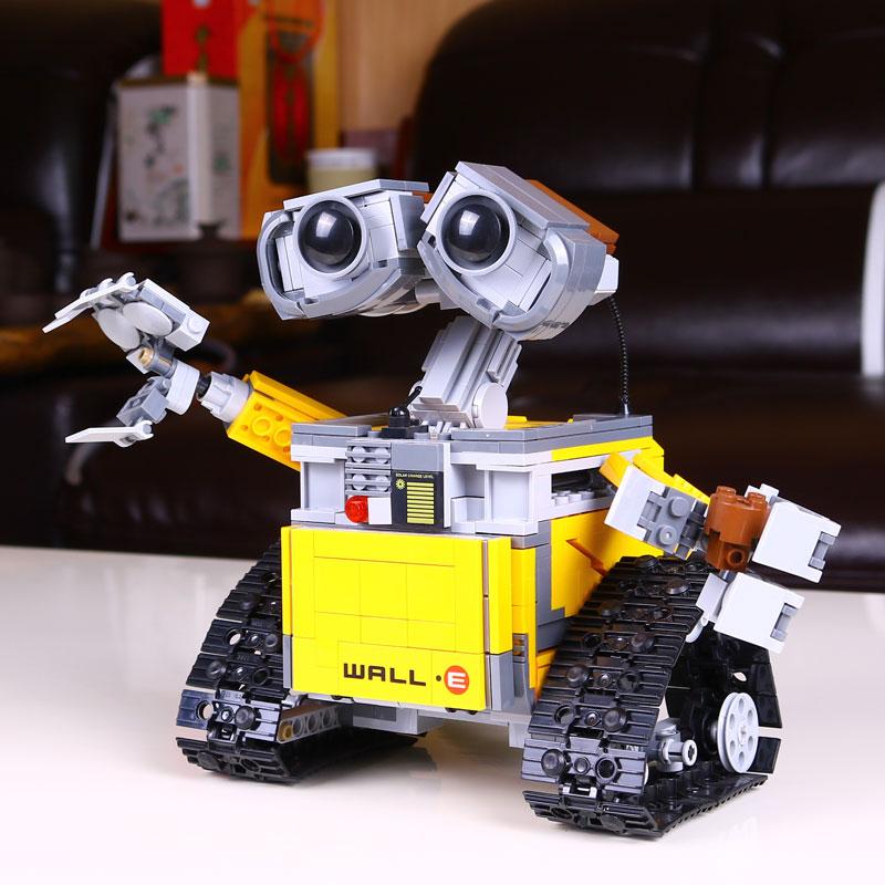 цены 16003 LEPIN Idea WALL E Robot Model Building Blocks Classic Enlighten DIY Figure Toys For Children Compatible Legoe