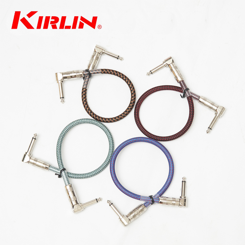 4PCS / Lot Kirlin IWB-203B 0.3M Cable / Effect Patch kabel gitar / garis pedal boleh digunakan kesan kabel kabel stomp