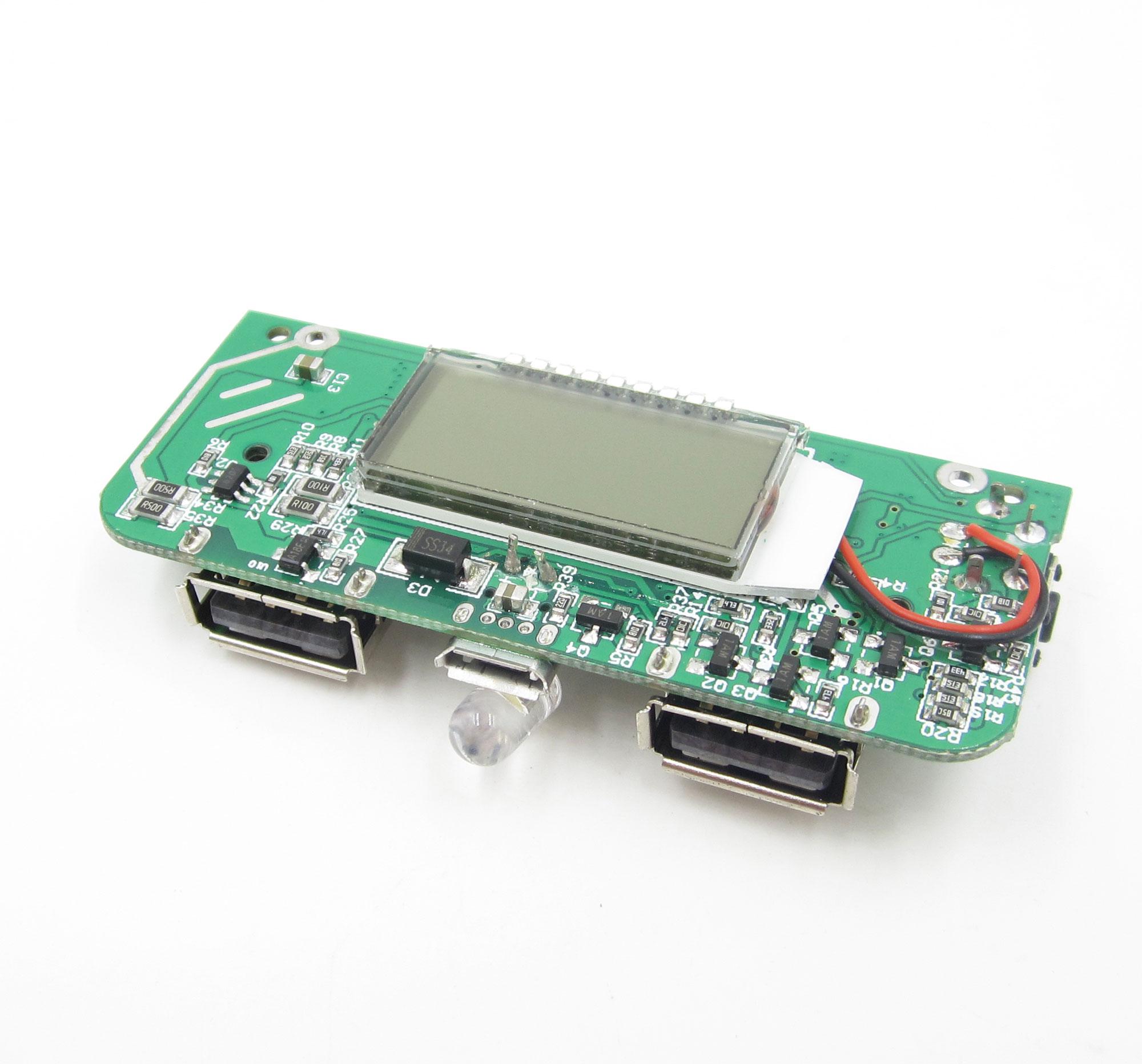 Para el Teléfono DIY Dual USB 5 V 1A 2.1A Banco Móvil 18650 Cargador de Batería