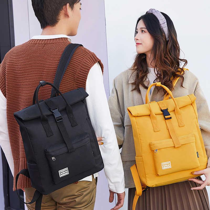 Mode Jugend Rucksack Persönlichkeit Casual Leinwand Bagpack Unisex Große Kapazität Tablet Tasche Student Tasche Literarischen Trend Rucksack