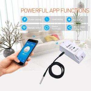 Image 5 - Sonoff TH10 TH16 Wifi Smart Switch Überwachung Temperatur Feuchte Sensor Wifi Schalter Automatisierung Arbeit Mit Alexa Google Hause