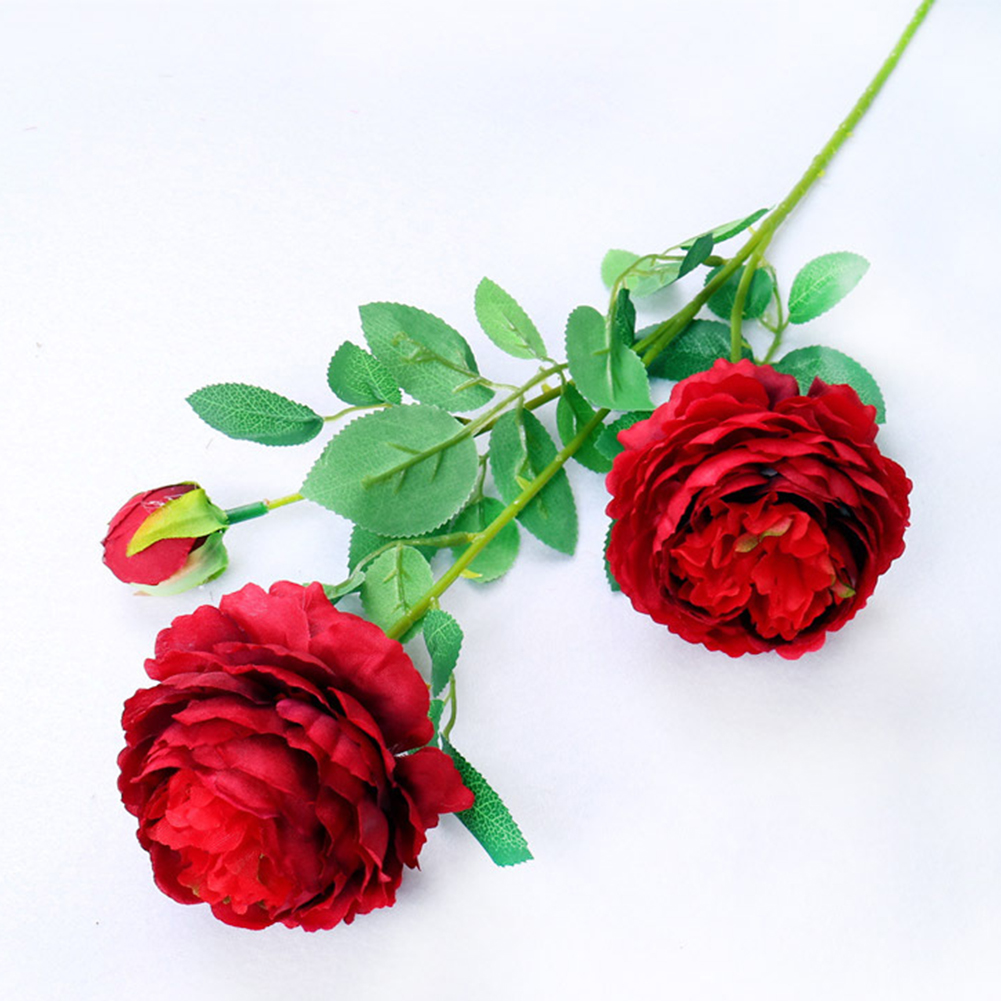 3 heads artificial silk rose flower bouquet wedding peony flowers 3 heads artificial silk rose flower bouquet wedding peony flowers fall vivid fake flower bridal bouquets home party decor in artificial dried flowers from izmirmasajfo