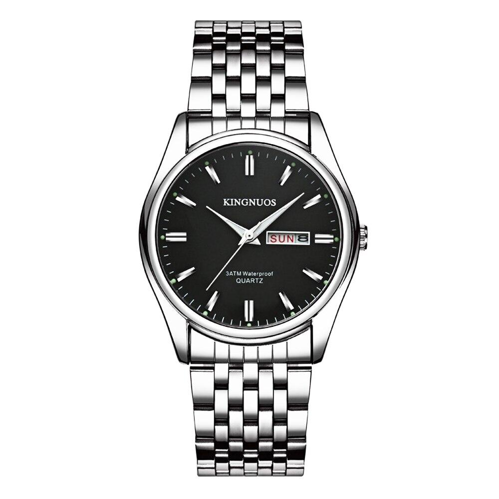2018 Meistverkaufte Mode Luxus Stahl Wasserdicht Armbanduhr für Männer Datum Woche Display Hodinky Männliche Uhr Armband Frauen Uhren