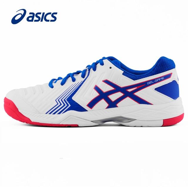 € 93.1 |D'origine Asics Gel Jeu 6 De Tennis Chaussures Tenis Masculino Respirant Dmx Pour Hommes marque sport Sneakers dans Chaussures de tennis de