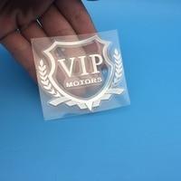 diy car 3D VIP MOTORS logo metal car logo badge decals door and window body car decoration DIY sticker car decoration style (5)