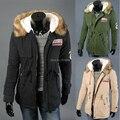 Куртка хлопок капюшон, зима большой бархат толстый тёплый мех воротник пальто влюблённые вилочная часть и женское модели длинная раздел S-4XL