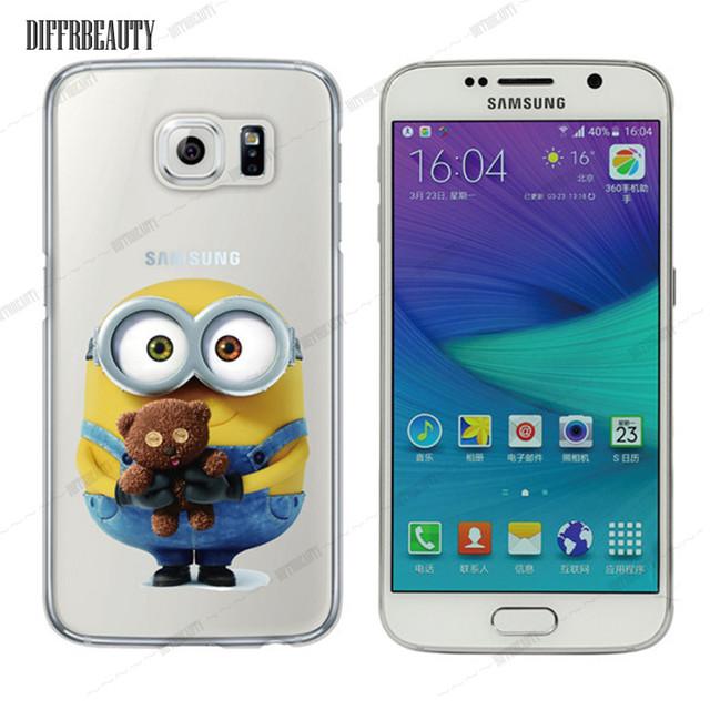 Soft Fashion Minions Design Phone Case Cover for Samsung Galaxy S6 4 5 7 S6 Edge Plus Coque