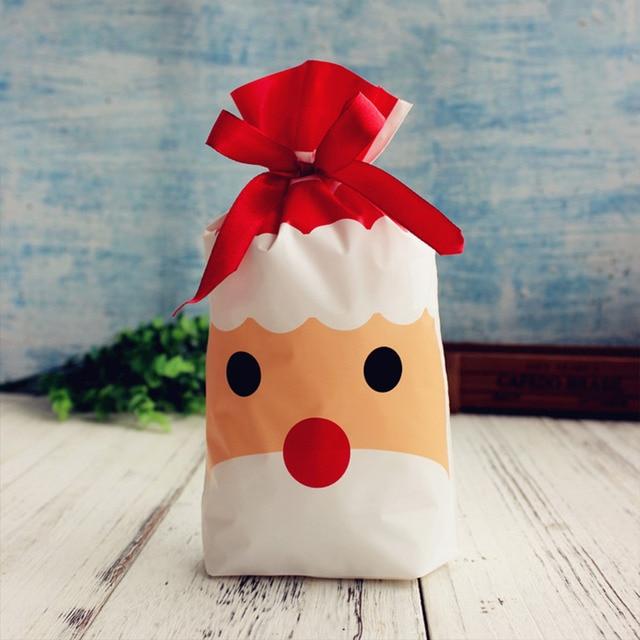 LAPHIL 10pcs Christmas Tree Christmas Gift Bags Lot Santa Claus Gift Bags Xmas Candy Bag Merry Christmas 2018 New year Favors 2