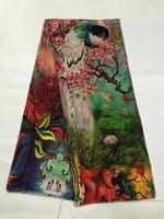 Tulle de soie imprimée tissu d'été fruits tissu imprime robe soie mousseline de soie tissu en gros tissu de soie tissu minky matériel LX0586