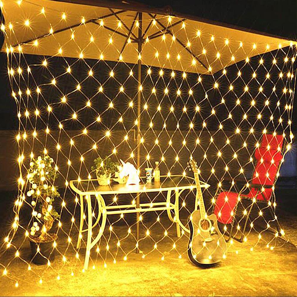 Mesh LED Lights 220V Holiday Wedding Party Outdoor String Lights Chain Decoration Garden Lamp Fairy Lights Net Garland Slingers