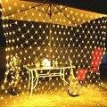 Mesh Led leuchten 220V Urlaub Hochzeit Party Im Freien String Lichter Kette Dekoration Garten Lampe Fee Lichter Net Girlande slingers-in Lichterketten aus Licht & Beleuchtung bei