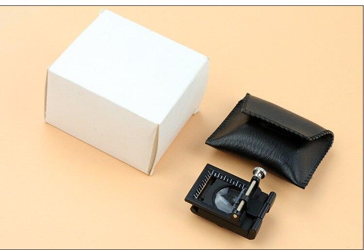 10x fém íróasztal 2 LED-es nagyító optikai lencsével fekete - Mérőműszerek - Fénykép 6