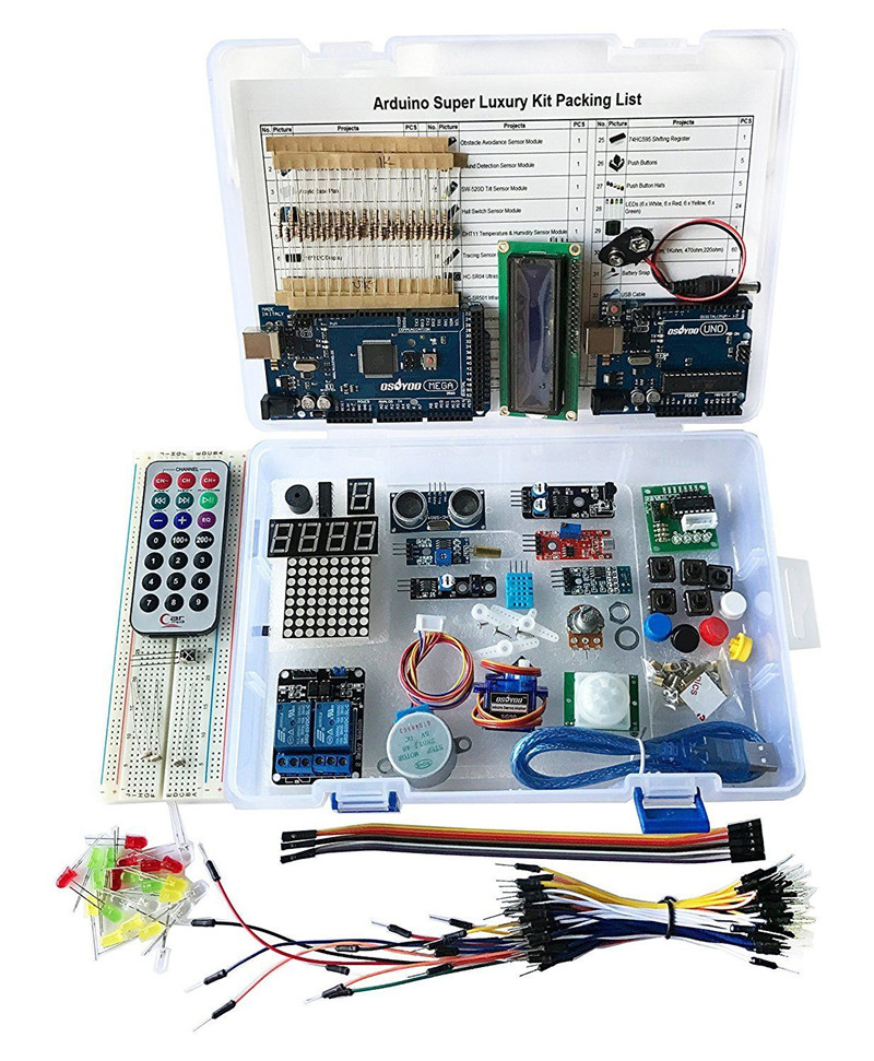 US Super Starter Kit For Arduino UNO R3 &Mega2560 Board for LCD Servo Motor Relay