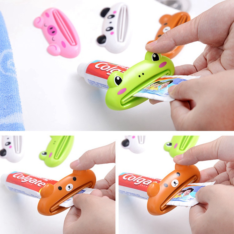 Frog Toothpaste dispenser Tube Rolling Holder Squeezer Easy Press Squeezing Tool Home Bathroom Accessories Toothpaste dispenser
