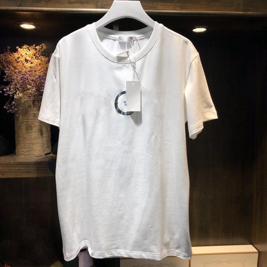 Femme vêtements coton décontracté T-shirt noir blanc miroir lettre motif été Tee Couple vêtements T-shirt femmes hauts