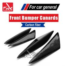 For BMW F22 4Pcs Front Bumper Lip Splitter Fin Air Knife Auto Body Kit Car Spoiler Canards Valence Accessory 2 Series 220i 228i