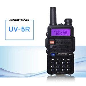 Image 1 - Baofeng UV 5R Walkie Talkie CB Radio Transceiver 5 watt VHF UHF Dual Band FM Handheld Amauter Schinken Zwei Funkgeräte UV5R Für Jagd