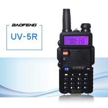 Baofeng UV 5R 워키 토키 cb 라디오 송수신기 5 w vhf uhf 듀얼 밴드 fm 핸드 헬드 amauter 햄 양방향 라디오 uv5r 사냥을위한