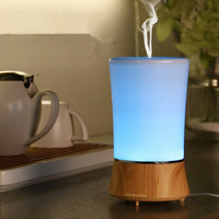 150ml Ultrasonic Aroma Air HumidifierS Portable Aromatherapy Diffuser Essential Oil With 7 Changing Color LED For