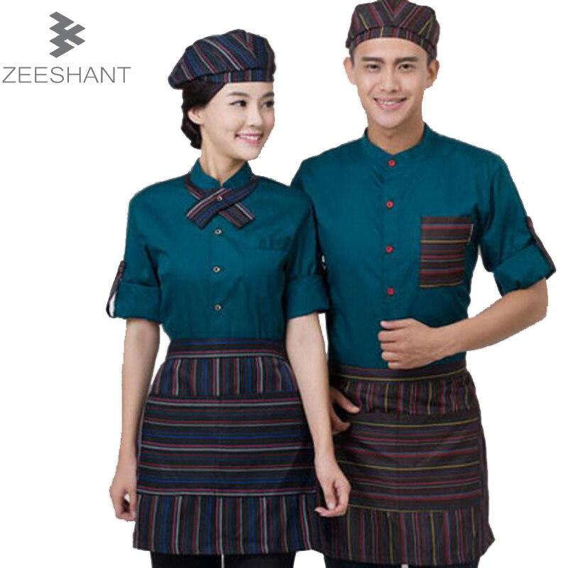 Cook uniform veste de cuisine chef service long sleeve - Uniformes de cocina ...