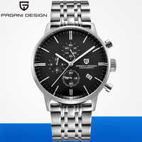 PAGANI DESIGN 2019 Men Chronograph Watches Top Brand Luxury Waterproof Sports Military Quartz Watch Mens Clock Relogio Masculino