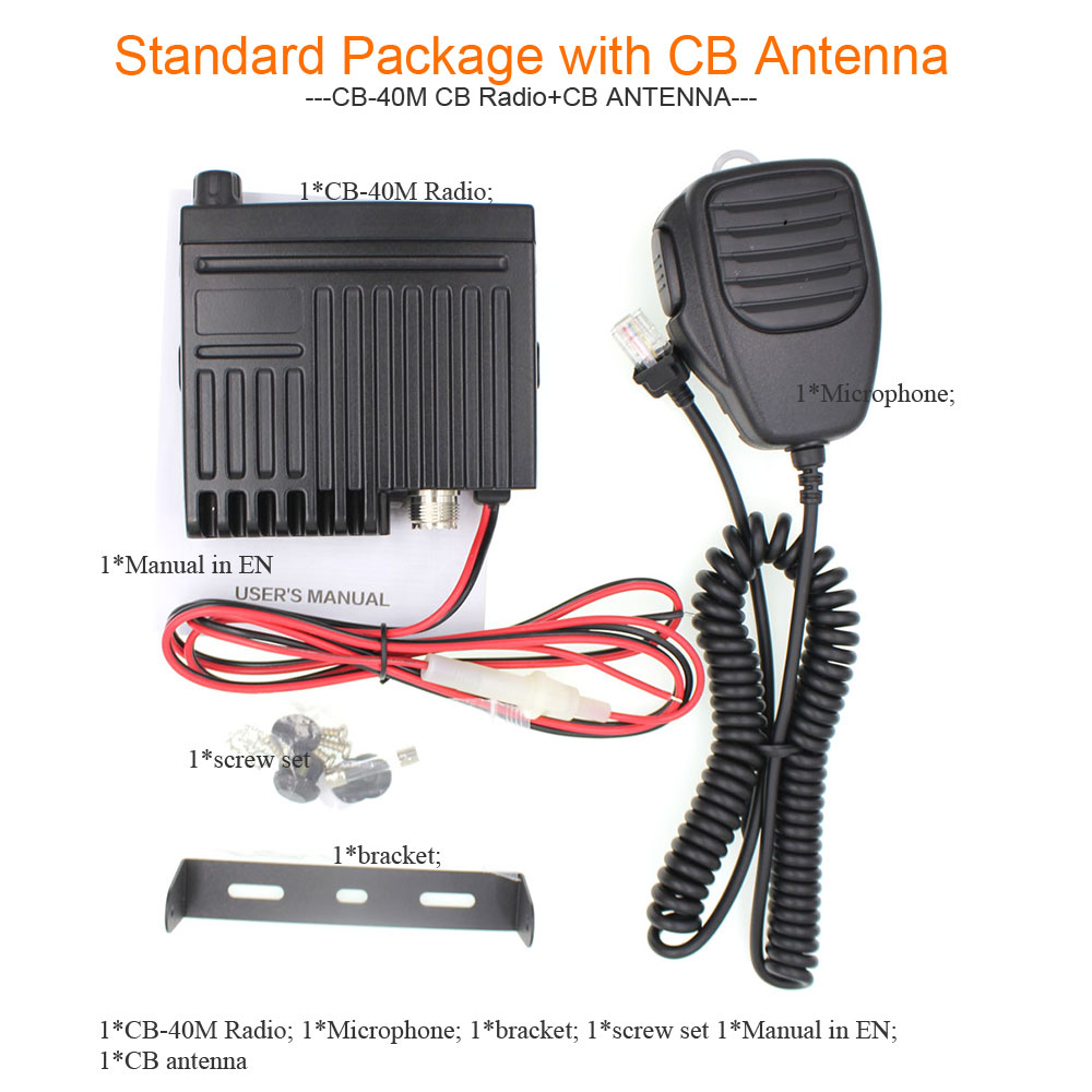 Image 5 - Car radio Station CB 40M 25.615  30.105MH 8W Citizen band CB Radio Mobile Transceiver amateur Compact AM/FM walkie talkie AC 001-in Walkie Talkie from Cellphones & Telecommunications