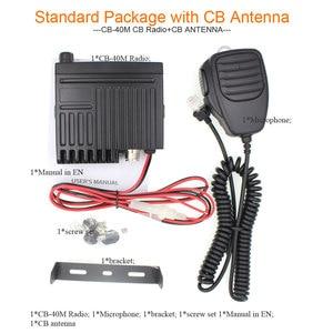 Image 5 - Car radio Station CB 40M 25.615  30.105MH 8W Citizen band CB Radio Mobile Transceiver amateur Compact AM/FM walkie talkie AC 001
