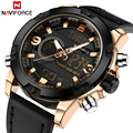 NAVIFORCE Мода Luxury Brand мужские Кварцевые Цифровые Часы Мужские Спортивные Часы Кожа Военный Наручные Часы Relogio Masculino