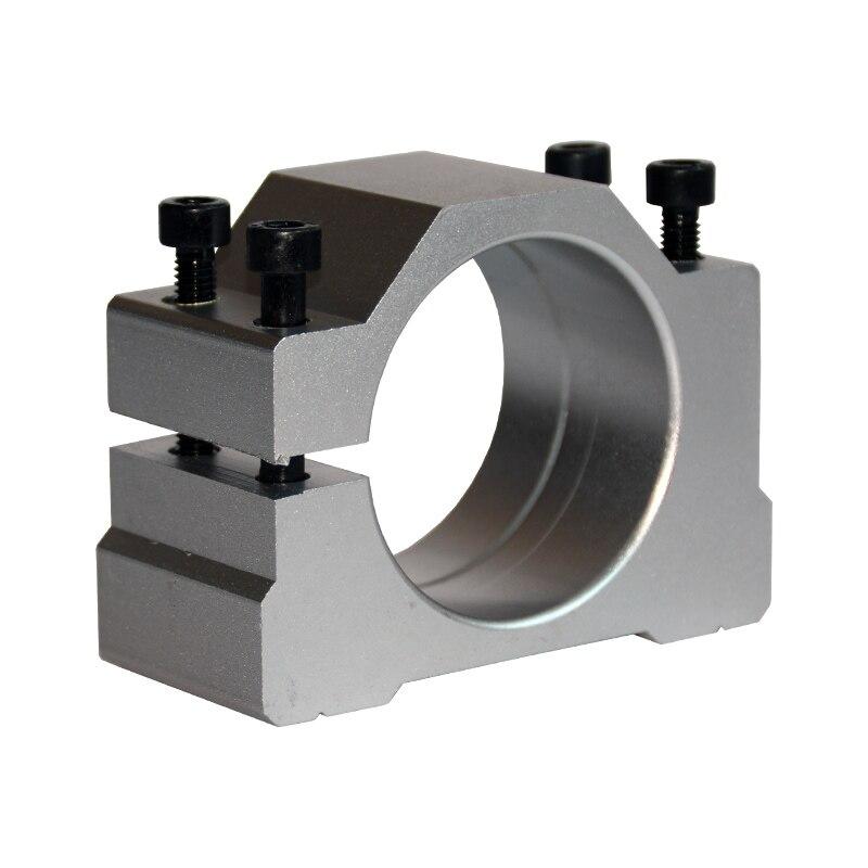 52mm Spindle Clamp 65mm Aluminum Motor Bracket Cnc Carving Machine Parts  Holder