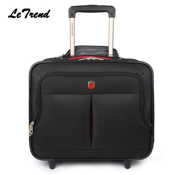 LeTrend New High Quality Nylon Travel Multi-function Luggage Hand Trolley Men Boarding Suitcase Large Capacity Travel Luggage