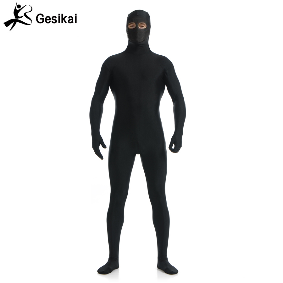 Adult Lycra Open Eyes Full Body Zentai Suit Custome for Halloween Men Second Skin Tight Suits Spandex Bodysuit Cosplay Costumes