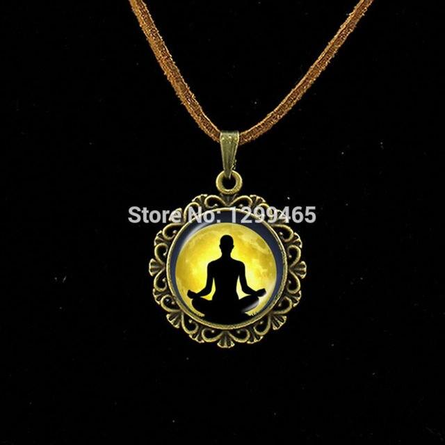 Collier Collares Maxi Necklace Om Yoga Muslim Zen Necklace Mandala Religious Culture Jewelry Henna Buddhism Meditation Pendant