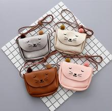 Cute font b Children b font Baby PU Cat Bag Kid s Shoulder Messenger Bag Girl