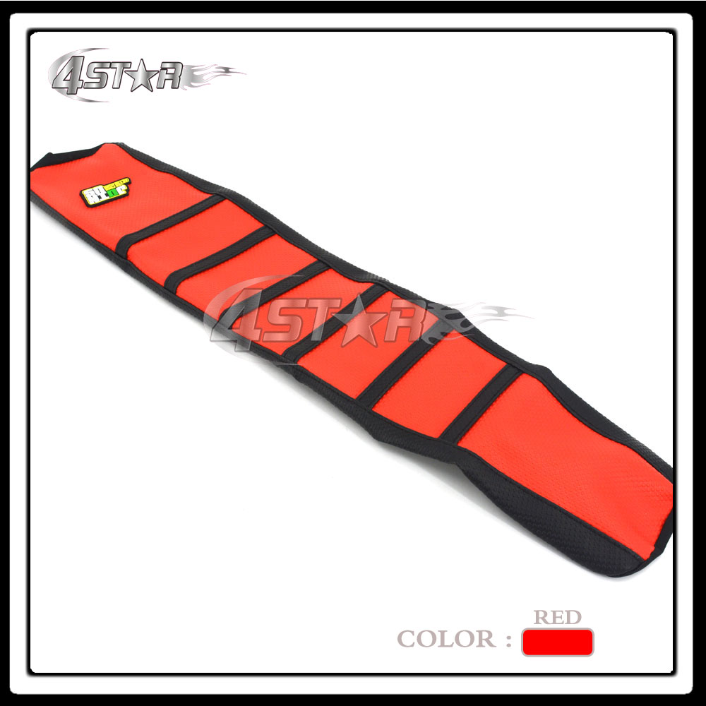 Red And Black Rubber Motorcycle Gripper Soft-Grip Seat Cover Moto Part For CR125 CR250 1994 1995 1996 94 95 96 Free Shipping