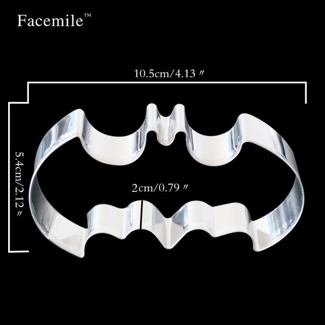 Facemile 2016 New Halloween Fondant Cake Cookies Biscuit Cutter Mold Big Bat Batman 20-44