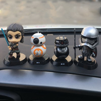 Car Ornament Cute Shaking Head Doll For Star Wars Automobiles Interior Cute Decoration Swinging Head Ornaments Accessories