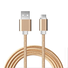 Micro USB Cable Phone Charging & Data Sync Cord Nylon Wire 0.25m 1m 2m for Xiaomi Samsung Huawei android smartphone Tablet