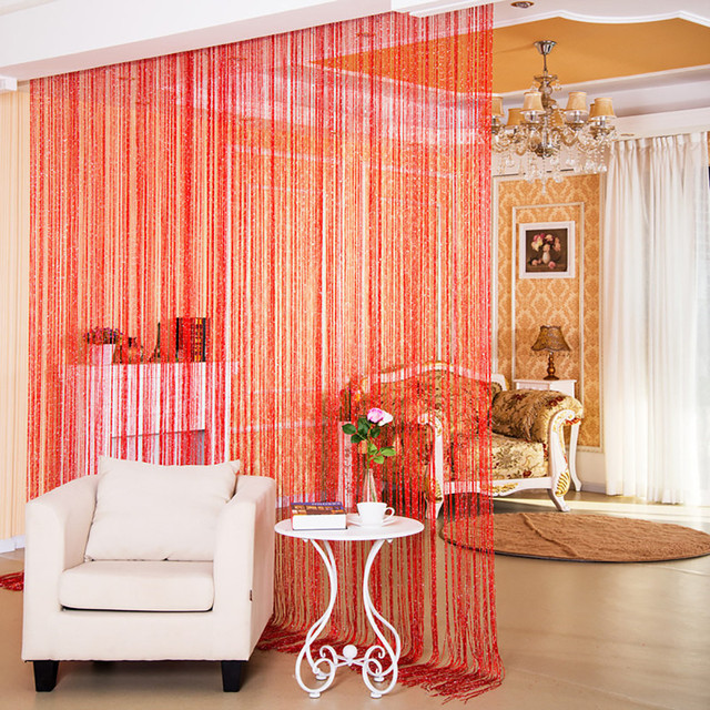 String Curtains Patio Net Fringe for Door Fly Screen Windows Divider Cut To Size Solid Door Curtains For Living Room Home Decor