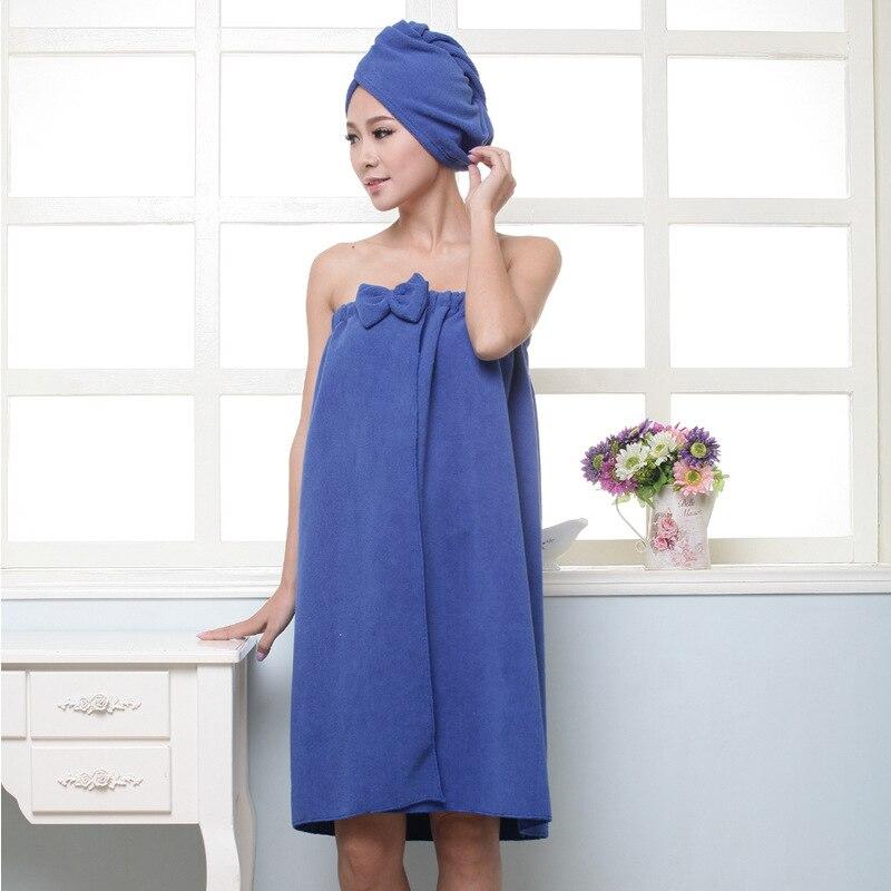 1set Women's Super Soft Absorbent Spa Towel Microfiber Bath Towel Wrap with Dry Hair Shower