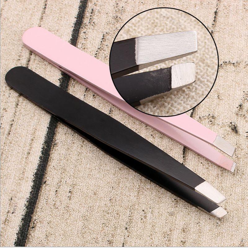 Hair Removal Eyebrow Tweezer Professional Makeup Tools Stainless Steel Slant Tip Make Up Cosmetic Tool Useful Beautiful