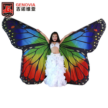 Kids Butterfly Wing Large Full Circle Isis Wing Children Belly Dance Stage Performance Butterfly ISIS Wing MultiColor butterfly wing cape pashmina
