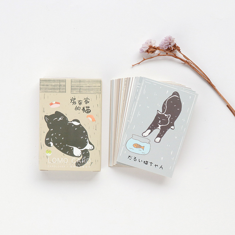 28 Sheets/Set The Landlord's Cat  Mini Lomo Postcard /Greeting Card/Birthday Letter Envelope Gift Card Message Card
