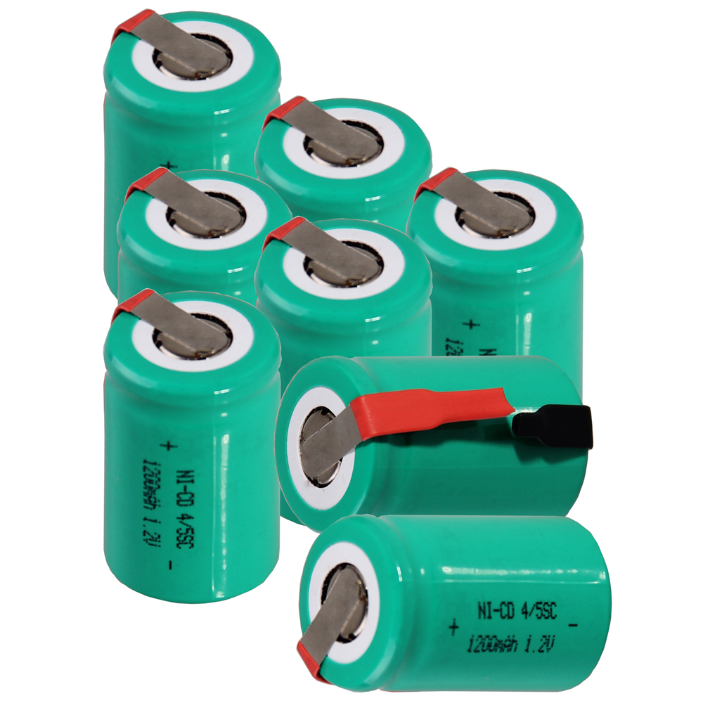 8 pcs 4/5SC 1200mah 1.2v battery NICD rechargeable batterie for emergency light toy equipment power for electric screwdriver